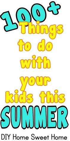 See Jamie Teach Homeschool: 100+ things to do with your kids this summer (Most of them are free.)