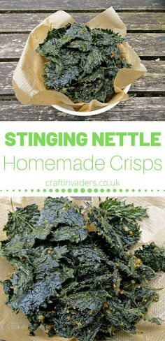 Today I am sharing my favourite stinging nettle recipe - Nettle Crisps. They are cheap and simple to make, delicious and incredibly healthy! Yummy Healthy Snacks, Healthy Eating, Healthy Recipes, Healthy Crisps, Homemade Crisps, Nettle Recipes, Veggie Chips, Whole Food Recipes, Skyrim