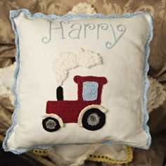 One of our first designs--HarryTractor. We love it and we know that many boys love it too. A great gift for a newborn boy or for a first birthday.