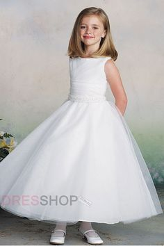 Square Natural A-line/Princess Cute Flower Girl Dresses