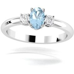 Engagement ring. Diamond ring. Sky blue topaz and diamond ring. Three... (€1.150) ❤ liked on Polyvore featuring jewelry, rings, gemstone band rings, round diamond ring, gemstone engagement rings, gemstone rings and three stone engagement ring