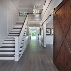 Awesome Modern Farmhouse Staircase Decor Ideas – Decorating Ideas - Home Decor Ideas and Tips House Design, House, Staircase Decor, Home, Staircase Design, New Homes, House Interior, Home Renovation, Wainscoting Styles