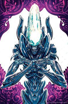 Dark Horse Comics have announced a new comic book series based on Fox's Alien franchise. Aliens: Dust to Dust Cover by Gabriel HardmanMaster [. Alien Vs Predator, Predator Movie, Ufo, Alien Film, Alien Convenant, Science Fiction, Giger Alien, Profile Wallpaper, Alien Tattoo