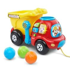 - Drop a colorful rock into the top of this cheerful dump truck toy and watch it tumble into the bucket to learn numbers - Once the rocks are in the bucket, the push toy or pull toy can be moved along