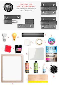 DIY Print Shop® TableTop Screen Printing Kit
