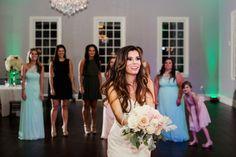 Bouquet Toss | The Milestone Aubrey Mansion | Natalie Gore and James Casey Wedding Day