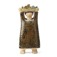 Stig Lindberg - 1916-1982 - STIG LINDBERG, skulptur i form av kvinna med fiskekorg, [...], Design Moderne et Nordique à Bukowskis | Auction.fr