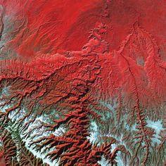 La Terre vue de l'Espace – Desolation Canyon avec la Green River
