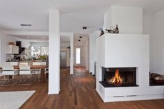 Fireplace, white, wood