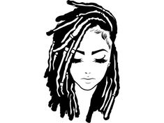 Discover recipes, home ideas, style inspiration and other ideas to try. Black Girl Art, Black Women Art, Black Girl Magic, African Tattoo, Queen Tattoo, Afro Girl, Dread Hairstyles, Magic Art, Black Is Beautiful