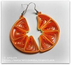 Orange earrings! Li voglio fare!
