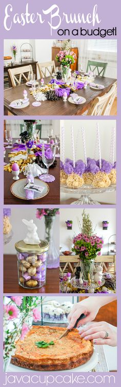 Creating a Glam Easter Brunch & Tablescape on a Budget! | JavaCupcake.com
