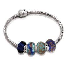 Italian Glass Aventurine Beads.