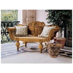 Toscano, AF31044, Ottomans And Benches, Toscano Af31044 Halifax Console Bench