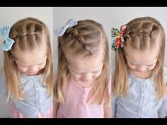 Elastic Waterfall | Accent Hairstyle for ALL Ages and Hair Lengths | Brown Haired Bliss - YouTube