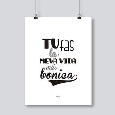 frases boniques en català sobre la vida - Buscar con Google Best Quotes, Love Quotes, Inspirational Quotes, Motivational, Typography Letters, Lettering, Mr Wonderful, Dad Day, Positive Quotes For Life