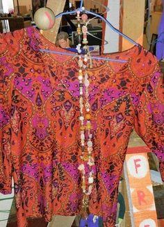 blouse à fleurs