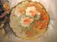 """Stunning Rare Beauty ~ Classic 16"""" Antique Hand Painted Limoges Wall from oldbeginningsantiques on Ruby Lane"""
