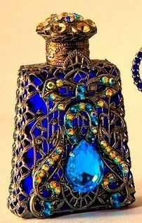 Vintage Czech perfume bottle....epitome of gorgeousness...sigh...
