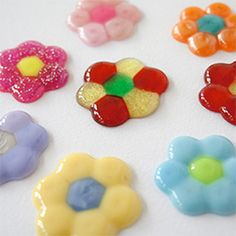 Melted Bead Flowers