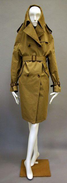 Trench coat   Martin Margiela (Belgian, born 1957)   France, Autumn/Winter 2005-2006   Materials: cotton, synthetic   The Metropolitan Museum of Art, New York