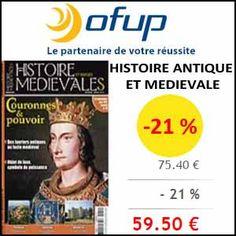 #missbonreduction; Remise de 21 % sur l'abonnement au magazine Histoire Antique et Médievale chez Ofup.http://www.miss-bon-reduction.fr//details-bon-reduction-Ofup-i349-c1832776.html