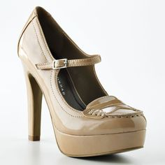 Lauren Conrad shoes are adorable!-- mary jane / loafer mix. Me likey