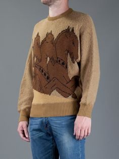 Versace Vintage horse sweater