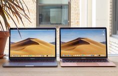 New Apple MacBook Pro vs Air Face-off: We Pick the Winner Macbook Desktop, Macbook Air Wallpaper, Macbook Laptop, New Macbook, Apple Macbook Pro, Macbook Pro 2017, Newest Macbook Pro, Apple Laptop, Future Gadgets