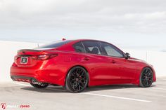 Someone call Deadpool – we have his ride ready. We're closing out 2018 with a bang with what is quite possibly the best looking INFINITI not-yet cruising the Naples streets. Infiniti Q50 Red Sport, Custom Trucks, Nissan, Super Cars, Deadpool, How To Look Better, Roads, Sports, Hs Sports