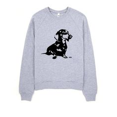American Apparel Sweatshirt With Dachshund Print, Dachshund Sweatshirt, Cotton Sweatshirt For Women, Unisex Sweatshirt For Dog Owner Gifts For Dog Owners, Dog Lover Gifts, Dog Lovers, Black Leggings, Women's Leggings, Hipster Vintage Fashion, Dachshund Sweater, Unisex, Cool Sweaters