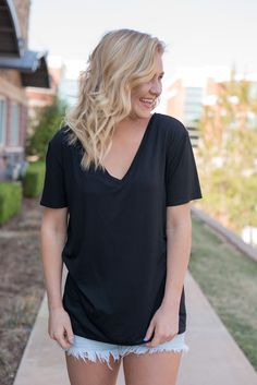 Piko classic v-neck t-shirt black. If you like our best selling Piko short sleeve classic t-shirts you'll LOVE this new v-neck version! The perfect easy to wear Piko tee! Relaxed fit comparable to a c