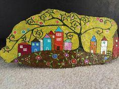 Mandala Painting, Pebble Painting, Pebble Art, Stone Painting, Rock Painting Ideas Easy, Rock Painting Designs, Painted Rock Animals, Painted Rocks, Art Village