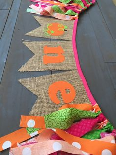 First Birthday One Pink & Pumpkin Burlap by MsRogersNeighborhood