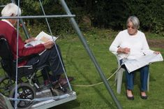 The wheelchair platform and single swing frame from TFH enables wheelchair users of all ages to safely enjoy the emotional and physical benefits of playing on a swing. Sensory Integration Therapy, Platform Swing, Single Swing, Alzheimer's And Dementia, Physical Development, Sensory Processing Disorder, Gross Motor Skills, Sensory Toys, Swings