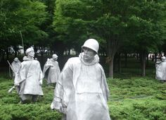 The Korean memorial is where we went next.  It was incredible how many people died and the clothes that they wore.