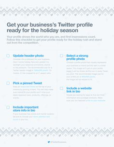 Preparing Your Twitter Profile for the Holiday Season [Infographic] | Social Media Today
