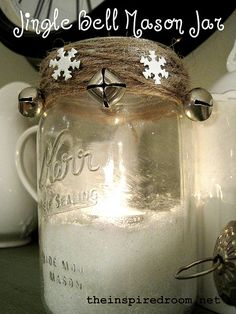 Jingle Bell Mason Jar