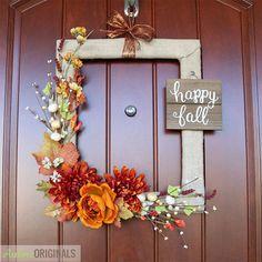 Diy Front Door Wreaths Easy to Make Fresh Fall Decor Easy Autumn Wreaths to Make Fall Door Garland Ideas – Homedecor – Fall Wreath İdeas. Easy Fall Wreaths, Easy Fall Crafts, Diy Fall Wreath, How To Make Wreaths, Diy And Crafts, Wreath Ideas, Garland Ideas, Fall Door Wreaths, Craft Ideas For The Home