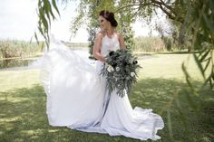 Riverside Country Estate was the perfect backdrop for our Modern Elegance Styled Wedding Shoot {as featured on Mooi Troues earlier this year}. We love combining simple elements like glass & copper with a very simplistic greenery runner, adding a few Black Calla Lilies & White Tulips for a pop of colour. Follow us on Facebook @Pronkertjie for more of our work Black Calla Lily, Wedding Shoot, Wedding Dresses, White Tulips, Calla Lilies, Country Estate, Decoration, Greenery, Color Pop