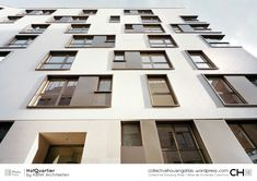 [Collective Housing Atlas] Hofquartier by KBNK Architekten Office Building Architecture, Urban Architecture, Building Facade, Sustainable Architecture, Residential Architecture, Building Design, Architecture Details, Facade Design, Exterior Design