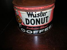 Mister Donut coffee tin from 1940s-1950s