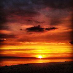 Sunset at Stokes Bay, Hampshire