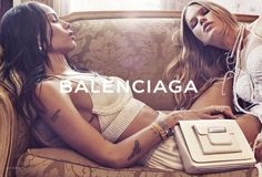 Zoe Kravitz and Anna Ewers pose in lingerie inspired looks from Balenciaga spring summer 2016 campaign
