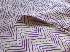 Purple Mountain Print, Indian Cotton, Breathable Fabric, by the yard, Iight weight cotton, pure cotton, Nature Prints, Purple Cream Print