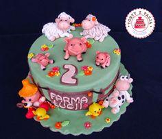 Torty z Pasją:Tort  Farma, zwierzęta, Animals cake, farm cake, fondant.