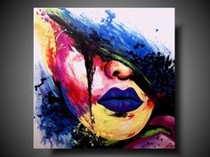 Mysterious abstract woman drag queen by PaintingsYouWillLove