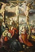 """New artwork for sale! - """" Drieluik Met Kruisiging Geboorte En Verrijzenis Van Christus by de Vos Maarten """" - http://ift.tt/Cv9t7X"""