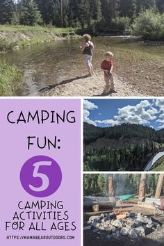 Enjoy your camping trip this summer and create new memories with activities from when you were a kid. No crafts and no prep required. Let's enjoy the simple things and remember that camping is about friends, family and memories to cherish. #camping #campingfun #campingwithkids #campingbasics