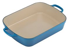 Le Creuset Signature Cast Iron Rectangular Roaster 525Quart Marseille *** Details can be found by clicking on the image.